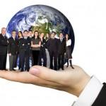 business team work worldwide
