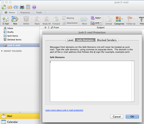 Outlook-Safe-Domain