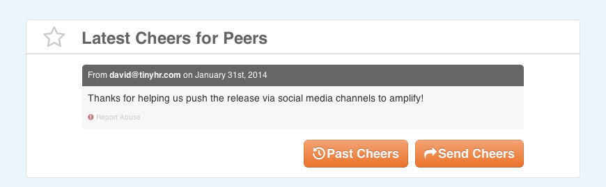 Cheers for Peers