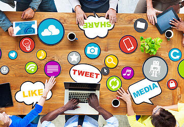 Gen Y using social media at work