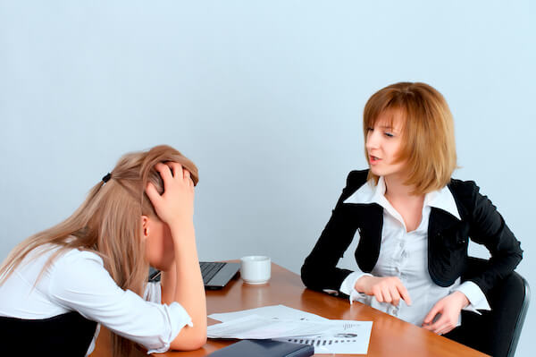 employee frustrated by performance reviews