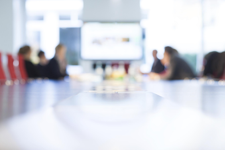blurry meeting room