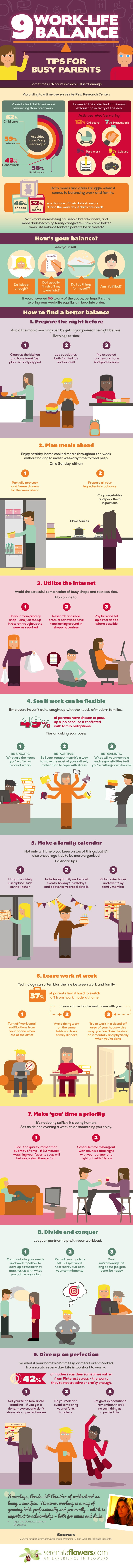 Work-Life Balance Hacks for Parents [Infographic] - by TINYpulse