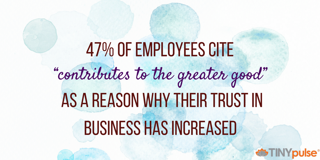 Trust in the workplace