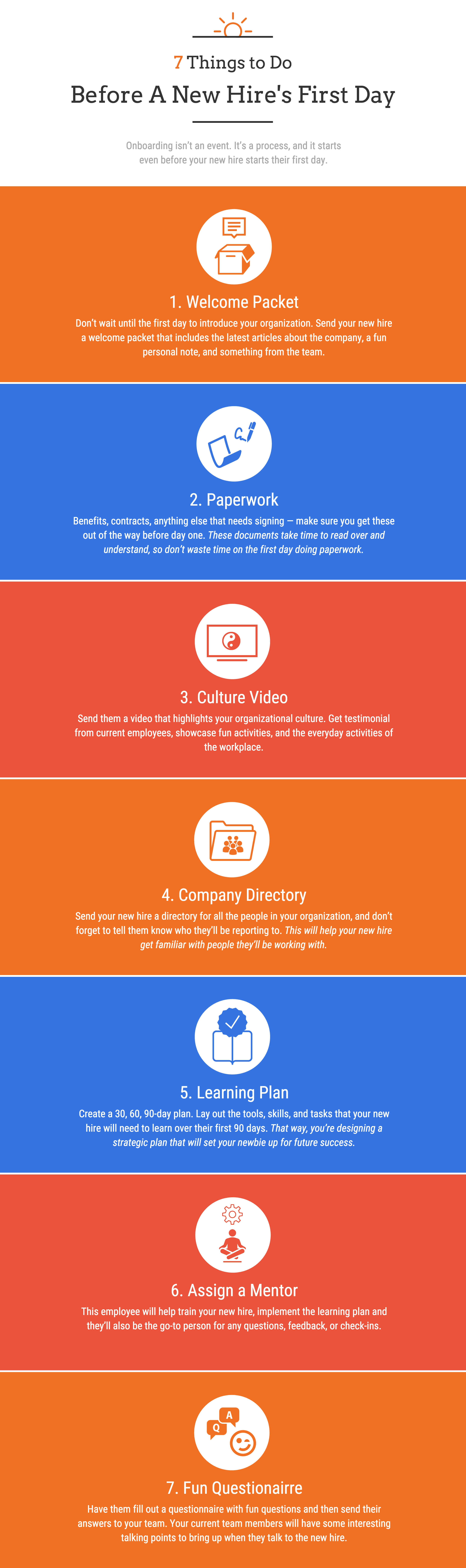 7 Things To Do Before A New Hire S First Day Infographic
