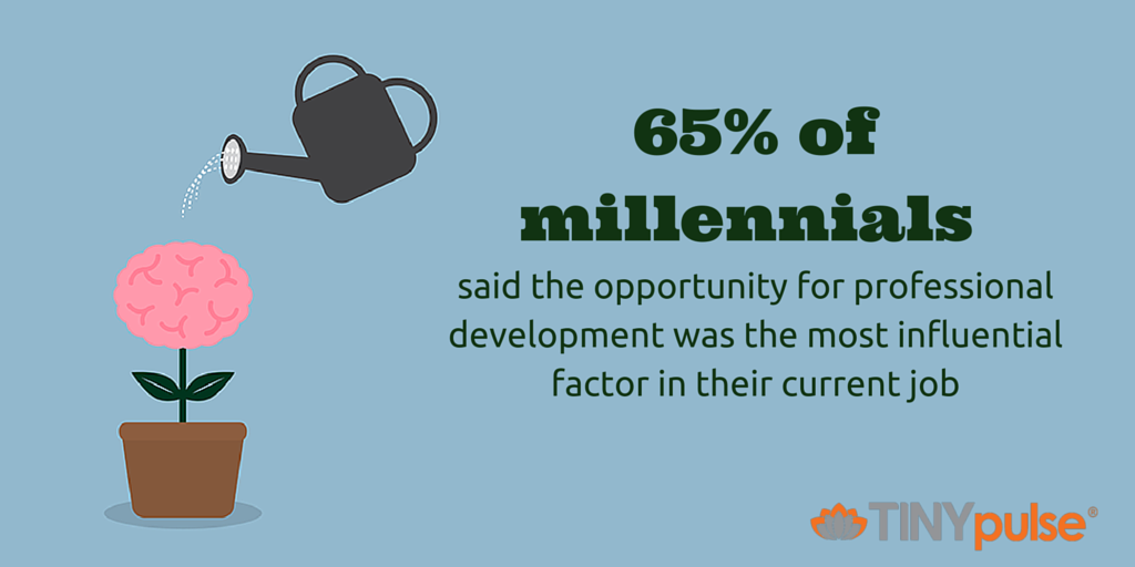 professional development for millennials by TINYpulse