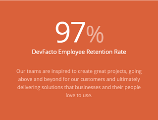 DevFacto Retention Rate is 97%