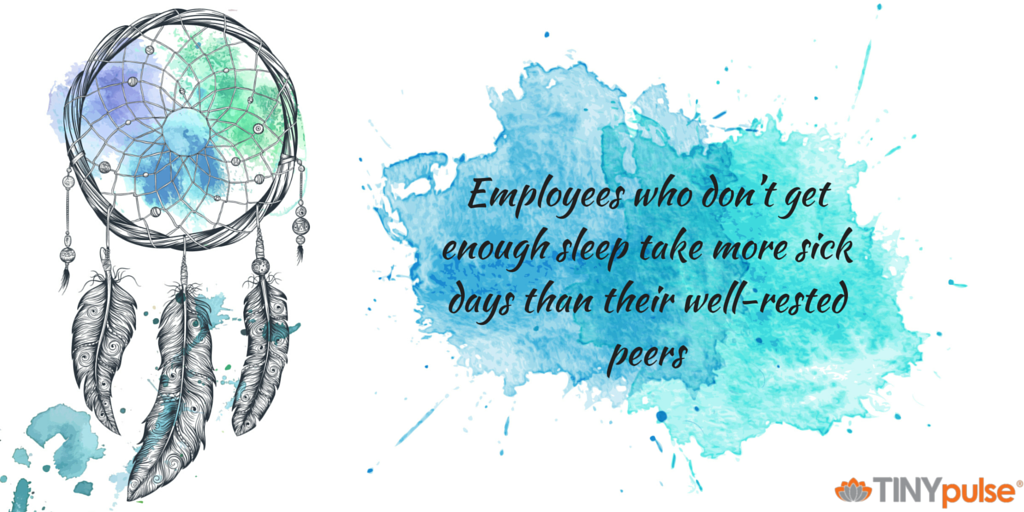 How a Lack of Sleep Kills Productivity by TINYpulse