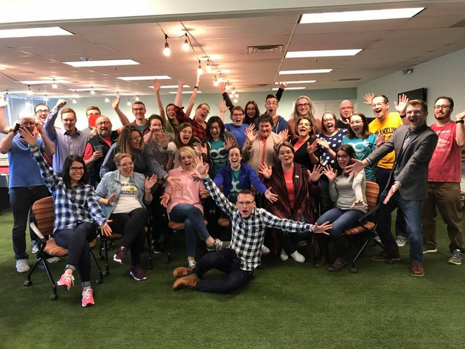 Picture of the whole OneClick team at HQ