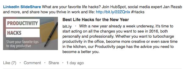 LinkedIn SlideShare - by TINYpulse