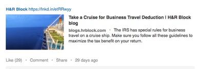 H&R Block LinkedIn - by TINYpulse