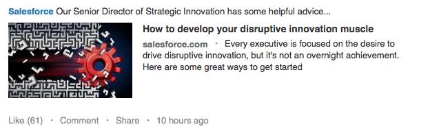 Salesforce LinkedIn - by TINYpulse