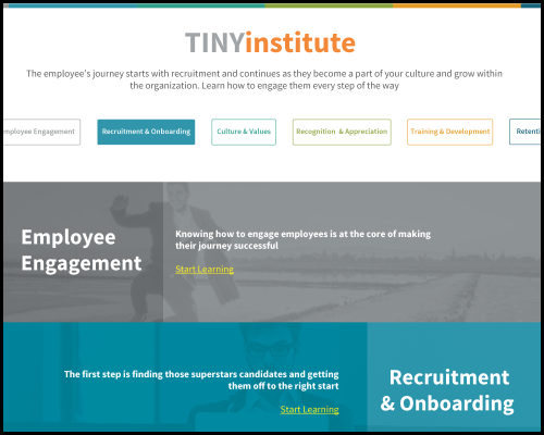 TINYinstitute: Resources on Employee Engagement and Company Culture