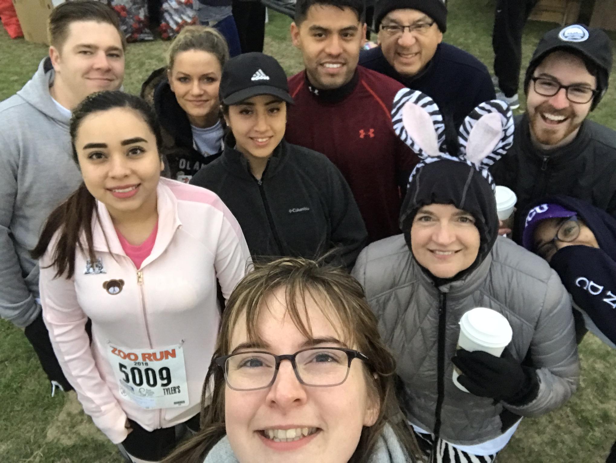 Team Teneo Selfie at the Fort Worth Zoo Run