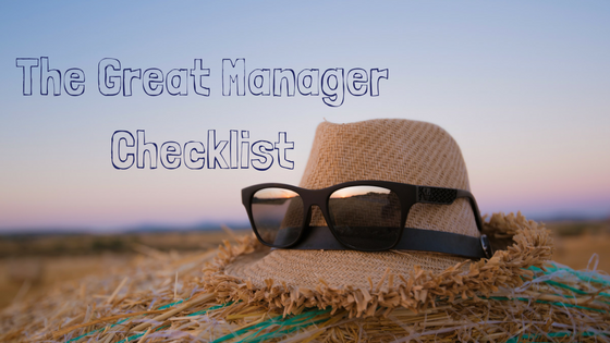 The Great Manager Checklist