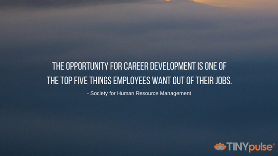 The opportunity for career development is one of the top five things employees want out of their jobs