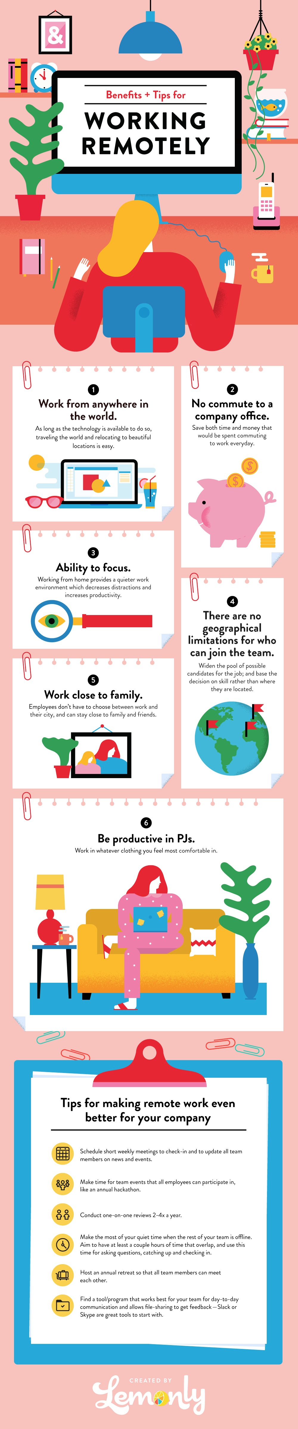 Remote workers infographic