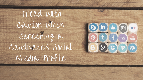 Screening a candidate's social media profile