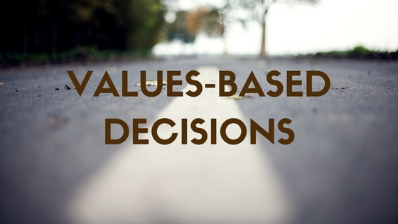 values-based decisions