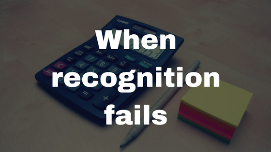 When recognition fails