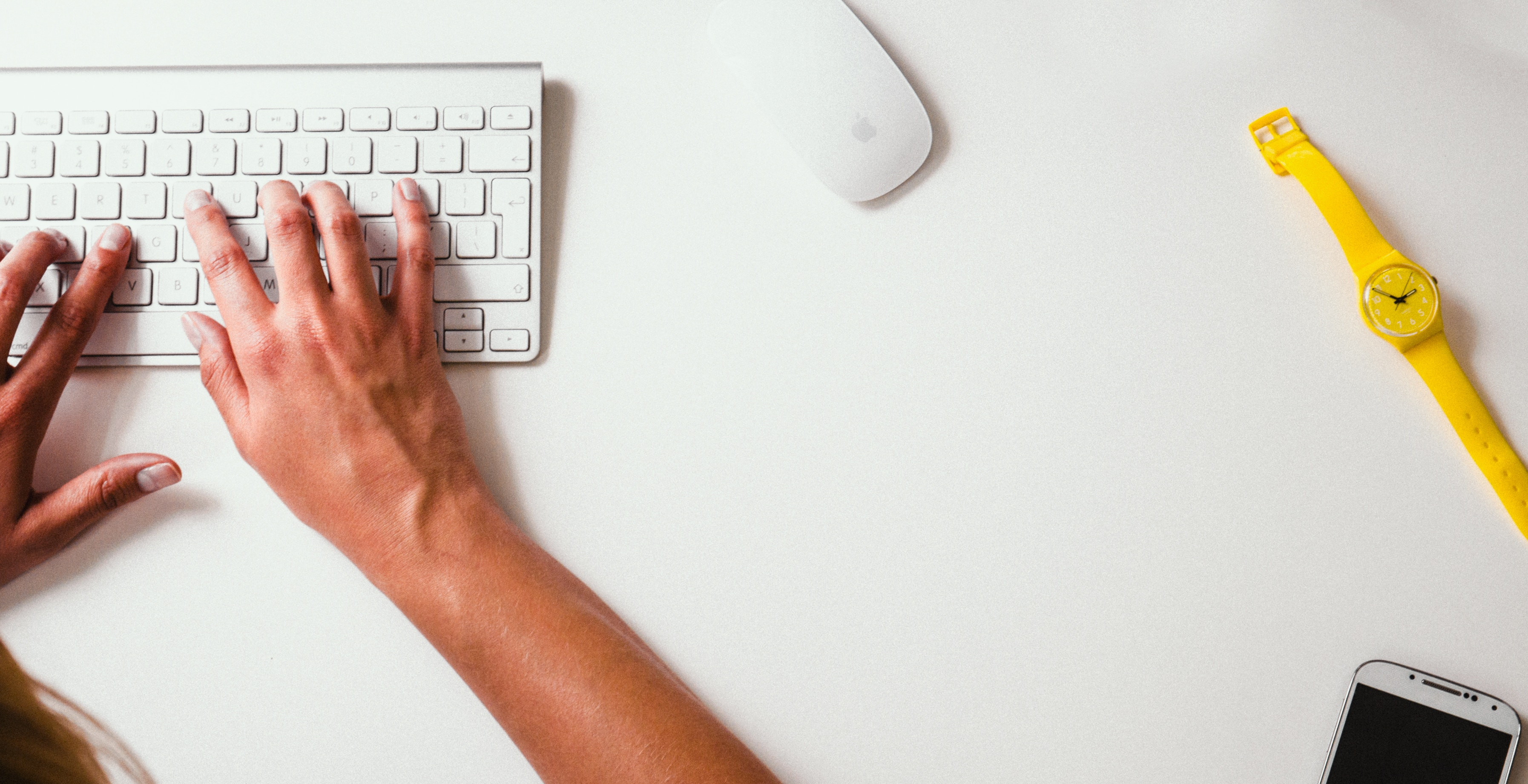 Image of woman typing on computer