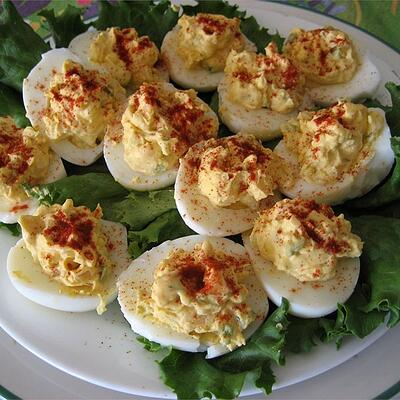 deviled eggs for thanksgiving pot luck