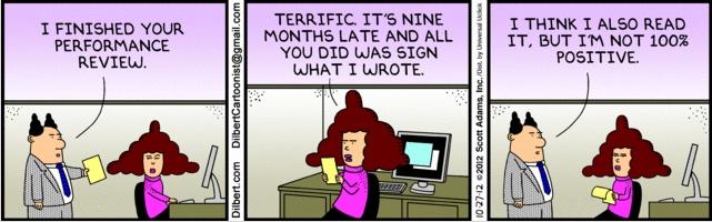 Dilbert Comic - Performance Reviews
