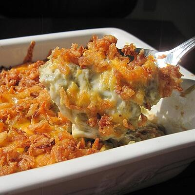 green bean casserole for thanksgiving potluck