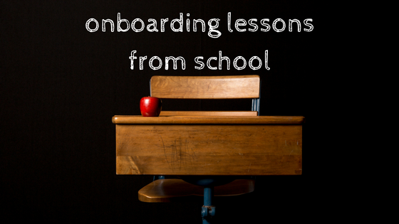 onboarding lessons from school