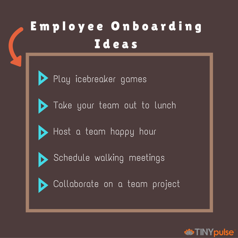 Employee onboarding ideas by TINYpulse