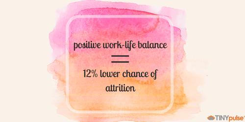 Positive work-life balance