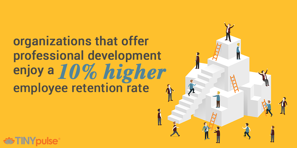Professional development and employee retention by TINYpulse