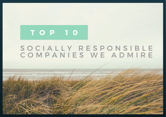 Top 10 Socially Responsible Companies We Admire by TINYpulse