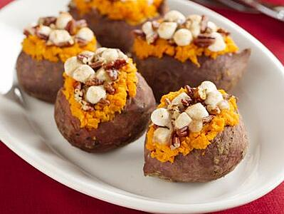 stuffed sweet potatoes for thanksgiving potluck