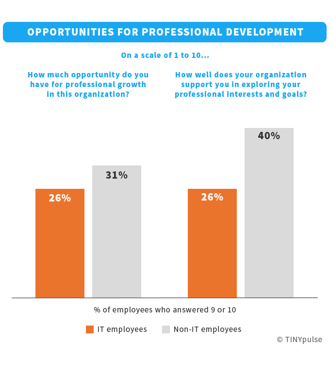 IT employees' opportunities for professional development   TINYpulse
